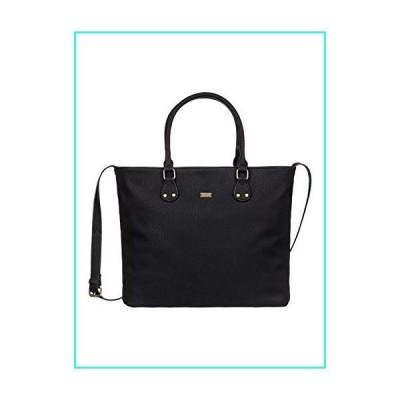 【新品】Roxy Womens Roxy Think Happy 15.5L - Faux Leather Tote Bag - Women - One Size - Black Anthracite One Size(並行輸入品)