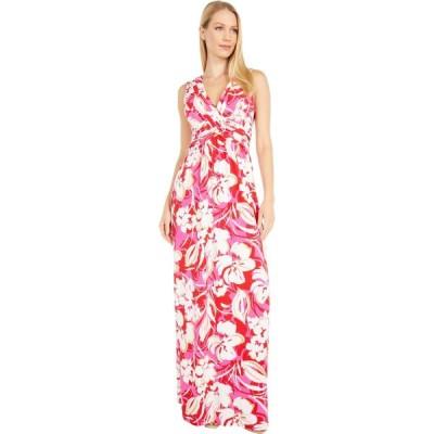 ヴィンス カムート Vince Camuto レディース ワンピース マキシ丈 ワンピース・ドレス Printed Jersey Wrap Front Maxi Pink Multi