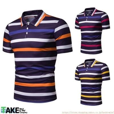 半袖ポロシャツ 夏 メンズ 花柄シャツ 配色 ゴルフウエア 切り替え カジュアルポロシャツ アロハシャツ 2021 新作 父の日