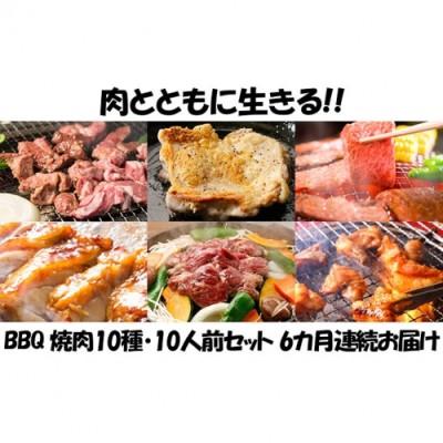 【6カ月連続】肉祭り開催!BBQセット ~焼肉10種 10人前コース~