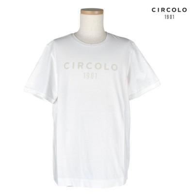 チルコロ 1901 Tシャツ 半袖 トップス CN1379 ホワイト メンズ