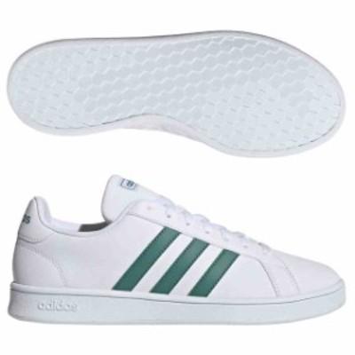 アディダス GRANDCOURT BASE ランニングホワイト×アクティブグリーン×グレー  adidas EE7905