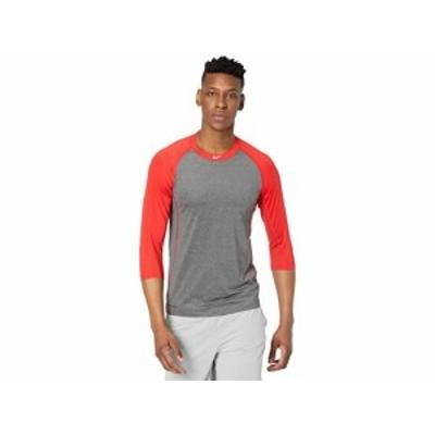 (取寄)ナイキ プロ ドライ 3/4 トップ Nike Pro Dry 3/4 Top Dark Grey Heather/University Red/White