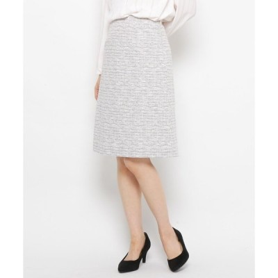 スカート コットン混ツィードスカート