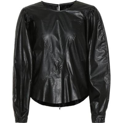イザベル マラン Isabel Marant レディース トップス dobson faux-leather top Black