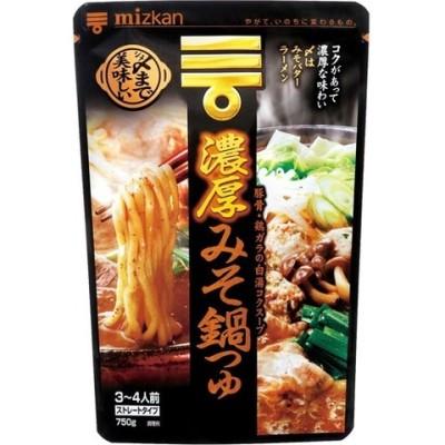 ミツカン 〆まで美味しい濃厚みそ鍋つゆ ストレート (750g)