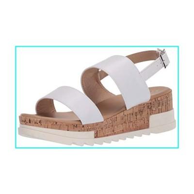 YOKI-BRENDA-80 Women's Open Toe Flat Form Sandal, White, 8.5 M US