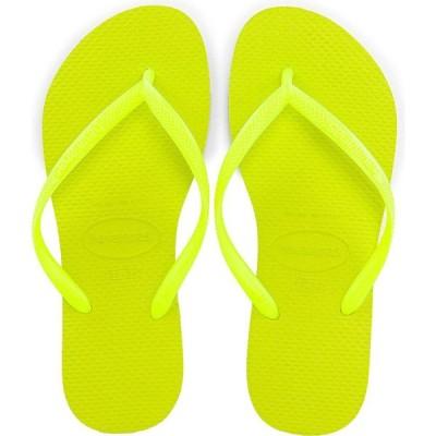 ハワイアナス Havaianas レディース ビーチサンダル シューズ・靴 Slim Flip Flop Galactic Green