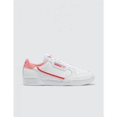 アディダス Adidas Originals レディース スニーカー シューズ・靴 Continental 80 W Ftwr White/Glory Pink/Lush Red