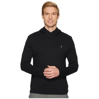 ラルフローレン メンズ パーカー・スウェットシャツ アウター Hooded Jersey T-Shirt Polo Black