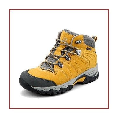 Clorts Women's Hiking Camping Boots Waterproof Breathable High-Traction Grip Backpacking Hiker Shoes HKM-822F US 9 Yellow【並行輸入