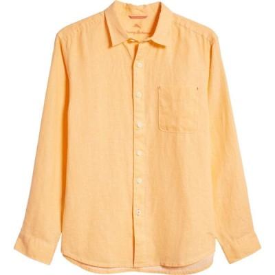 トミー バハマ TOMMY BAHAMA メンズ シャツ トップス Sea Glass Breezer Original Fit Linen Shirt Peach Parrot
