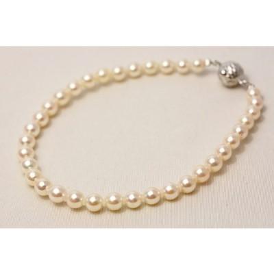 アコヤ真珠パールブレスレット 4.5-5.0mm ホワイトカラー