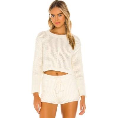 フルックザレーベル Flook The Label レディース ニット・セーター トップス x REVOLVE Mohair Sweater Ecru