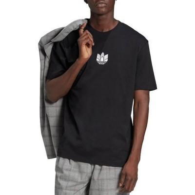 アディダス メンズ シャツ トップス adidas Men's 3D Trefoil T-Shirt