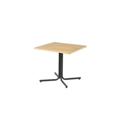 ds-2172966 カフェテーブル/サイドテーブル 【ナチュラル 幅75cm】 正方形 スチール 『ダリオ』 〔リビング ダイニング 店舗〕 (ds2172966)