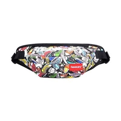 PURETINN ウエストバッグ バイク 多機能 スポーツ ウエストポーチ カラフル オックスフォード布収納バッグ (グリーン Free)