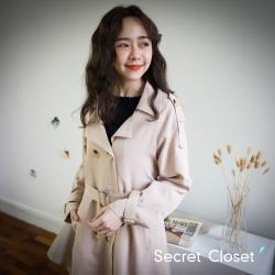 Secret Closet- 韓版英倫氣質過膝長版外套