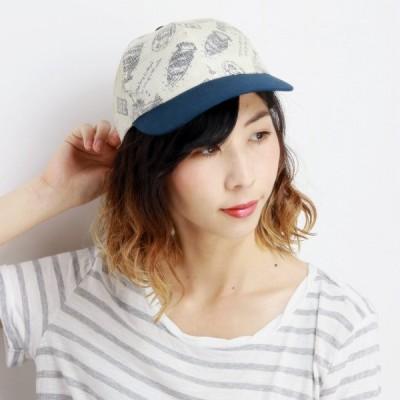 UVカット キャップ 麻 天然繊維 メッシュ 日本製 春夏 総柄 メンズ BBキャップ レディース レトロ サイズ調整可 送料無料 個性的 アイボリー ベージュ