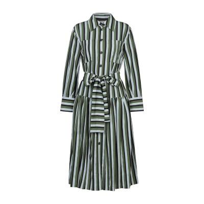 CAROLINA HERRERA 7分丈ワンピース・ドレス グリーン 0 レーヨン 88% / ナイロン 12% 7分丈ワンピース・ドレス