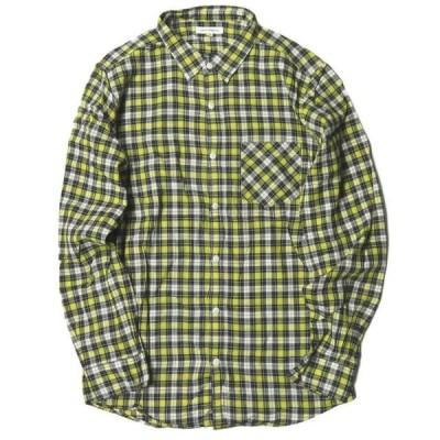 アーバンリサーチ URBAN RESEARCH 日本製 コットンチェックシャツ 40 イエロー 長袖 トップス