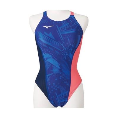 ミズノ(MIZUNO) レディース 競泳水着 エクサースーツUP ミディアムカット EXER UP MID リフレックスブルー N2MA0761 20 練習用 女性用競泳水着 トレーニング