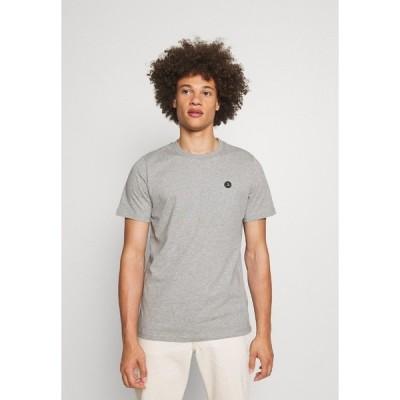 アナケット Tシャツ メンズ トップス AKROD - Basic T-shirt - light grey melange