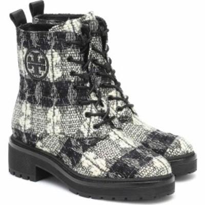 トリー バーチ Tory Burch レディース ブーツ ショートブーツ シューズ・靴 Miller Checked Ankle Boots Black/White/Perfect Black