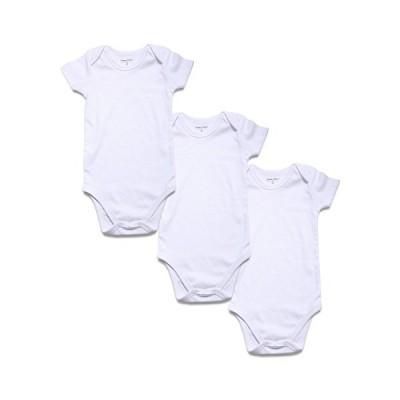 ベビー ロンパース 半袖 無地 綿 スナップボタン 着替え便利 新生児 男の子 女の子 肌着 カバオール ボディースーツ パジャマ 3枚セッ