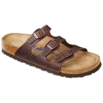 ビルケンシュトック レディース スニーカー シューズ Birkenstock Florida Oiled Leather Soft Footbed Sandals - Women's Habana