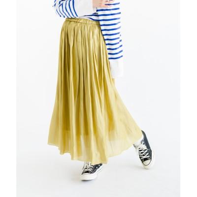 オーロラサテンスカート