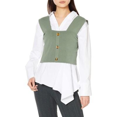 ムルーア シャツ ニットキャミコンビシャツ レディース 012010400801 ライトグリーン 日本 F (FREE サイズ)