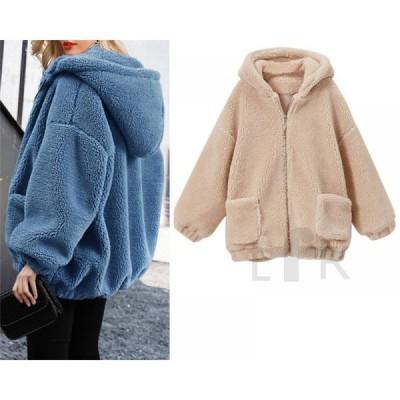 レディース ファーコート ムートンコート フェイクファー アウター ジャケット コート 大きいサイズ おしゃれ 上着 暖かい 防寒 冬服 新作 もこもこ ゆったり
