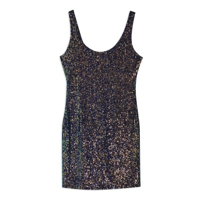 トップショップ TOPSHOP ミニワンピース&ドレス ダークブルー 6 ポリエステル 93% / ポリウレタン 7% ミニワンピース&ドレス