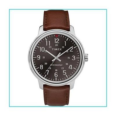 Timex メンズ クラシック 43mm 腕時計 タン/ブラック【並行輸入品】