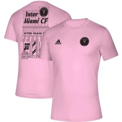 アディダス メンズ Tシャツ トップス Inter Miami CF adidas Megs T-Shirt Pink