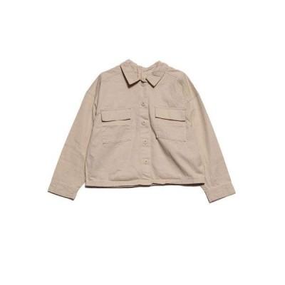 スタイルブロック STYLEBLOCK バックボタンゆるシャツ (ライトベージュ)