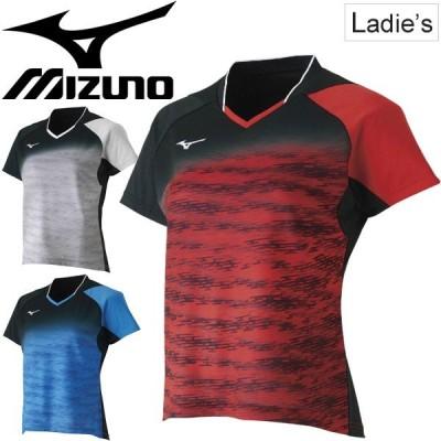 ゲームシャツ 半袖 レディース ミズノ mizuno スポーツウェア テニス ソフトテニス バドミントン 卓球 女性用 ラケットスポーツ/62JA8708【取寄せ】【返品不可】