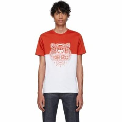 ケンゾー Kenzo メンズ Tシャツ トップス Red & White Limited Edition Colorblock Tiger T-Shirt Dark red