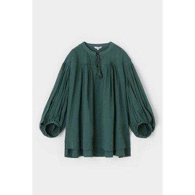 PUFF SLEEVE GATHER ブラウス L/GRN1