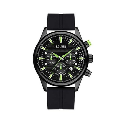 s.Oliver Mens Analog Quartz Watch with Silicone Strap SO-4181-PM 並行輸入品