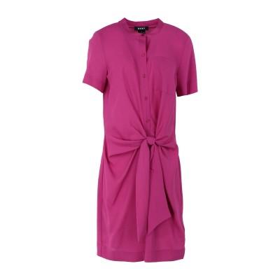 DKNY ミニワンピース&ドレス フューシャ 2 ポリエステル 100% ミニワンピース&ドレス