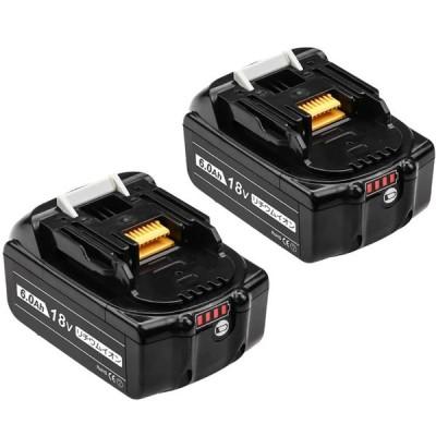 マキタ互換バッテリー 18v 6000mAh 2個セット