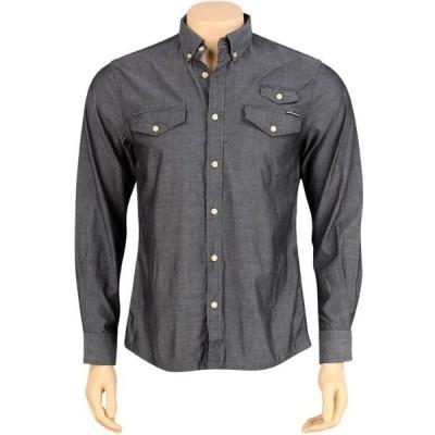 ザハンドレッズ The Hundreds メンズ シャツ トップス Butter Long Sleeve Shirt black