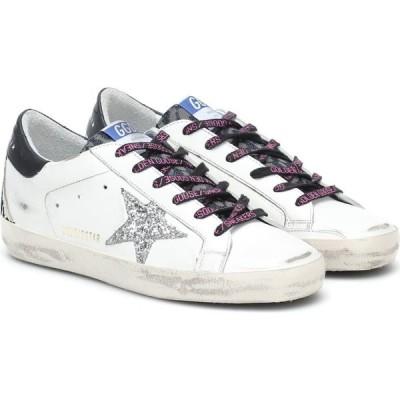 ゴールデン グース Golden Goose レディース スニーカー シューズ・靴 Superstar leather sneakers White/Indaco Leo/Silver/Black