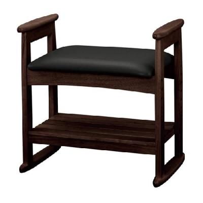ベンチ チェアー 椅子 イス 肘付スツールダークブラウン W-5H(DBR)