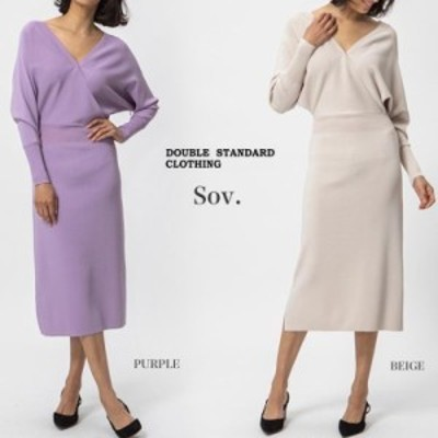 SALE40%OFF DOUBLE STANDARD CLOTHING ダブルスタンダードクロージング 通販 Sov. / Perso ニットワンピース 0301-161-203 レディース 20