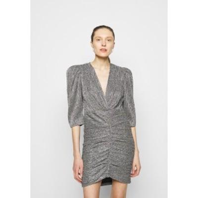 イロ レディース ワンピース トップス CLUZCO - Shift dress - black/silver black/silver