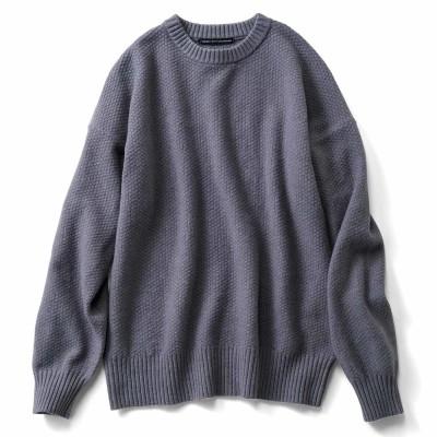 かのこ編みセーター〈ブルーグレー〉 フェリシモ FELISSIMO