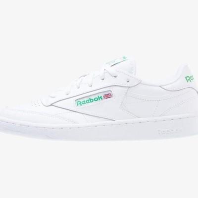 リーボック メンズ 靴 シューズ CLUB C 85 LEATHER UPPER SHOES - Trainers - white/green
